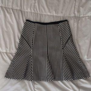 Banana Republic Black and White Striped Skirt